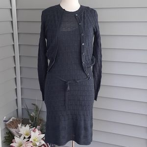 Missoni two-piece dress and sweater grey